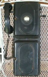Vintage Automatic Electric Wall Crank Monophone Telephone