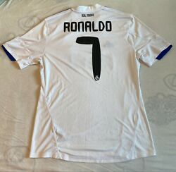 2010-11 Real Madrid Official Home Jersey 7 Ronaldo Size Mens L