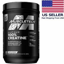 Muscletech Platinum Creatine Monohydrate Pure Micronized Muscle Builder Recovery