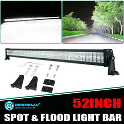 52inch 700w Led Work Light Bar Dual Row Combo Lamp Offroad Driving Car Truck