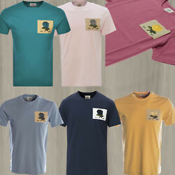 Kent And Curwen Mens Designer T-shirt Casual Crew Neck Rose Chest Patch 15 Clours