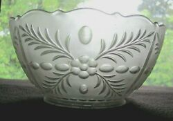 Vintage Antique Early 1900s Presed Etched Glass Gas Light Shade Sconce