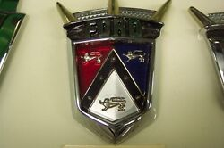 1955 1956 Ford Fairlane New Hood Crest Emblem And Retainer Crown Victoria 55 56