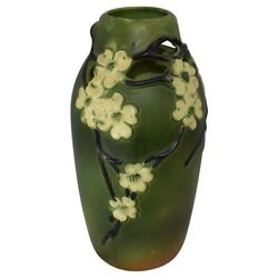 Roseville Pottery Dogwood Smooth Reticulated Vase 140-15