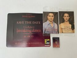 2011 Sdcc Comic Con Twilight Breaking Dawn Promo Sealed Cards, Magnet, Pin