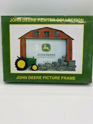 """John Deere Pewter Collection Tractor Picture Frame 5"""" X 3 1/2"""" 4442806 New Nib"""