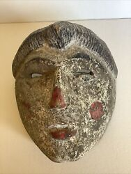 Antique 19th Century Hand Carved Wooden/wood Mask Guatemala Guatemalan Rare