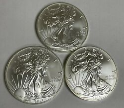 32013 American Silver Eagles Bu 1 Oz Uscoins 1 Dollar, Some Coins Have Toning