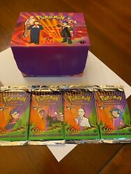 Pokemon 1st Edition Gym Challenge Sealed, Unweighed Booster Packs All 4 Art Set