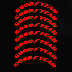 Red Goodyear Tire Lettering Permanent Sticker 1.38'' 15''-24'' 4 Tires Kit