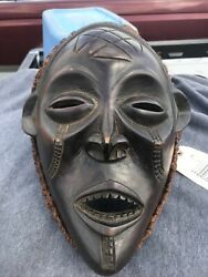 Chokwe Hand Carved Wood Mask Late 20th-21st Century Congo Anglo Democratic