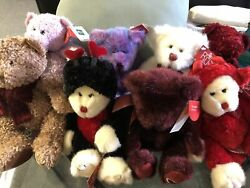 Vintage Russ Plush Lot Of 8 Stuffed Animals With Tags Variety Of Russ Bears