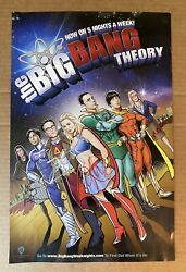 Extremely Rare Entire Cast Signed The Big Bang Theory Animated Superhero Poster