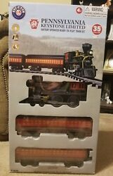 New Lionel Pennsylvania Keystone Limited Battery Operated Train Set With Tracks