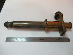 For Parts Antique Brass Collimator Microscope Filar Optics As Pictured And7b-b-02