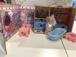 """Zapf """"just Born"""" 4.5"""" Baby Doll And Playhouse In Trunk"""