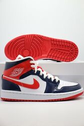 Nike Air Jordan 1 Mid Champs Color Patent Leather Dj5984-400 Womenand039s Sizes