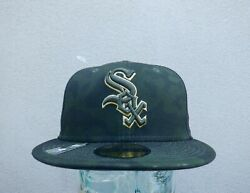 Chicago White Sox Armed Forces Men's New Era 59fifty Green Camo Hat - Sz 7 1/4