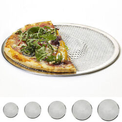 6/8/9/10/12/14 1round Pizza Oven Baking Tray Barbecue Grate Nonstick Mesh Net