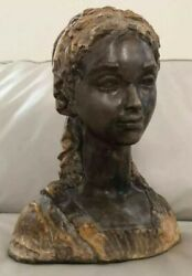 Amazing Large Antique Bust Of Classical Woman - Great Quality And Details- Heavy