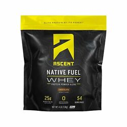 Ascent Native Fuel Whey Protein Powder - Chocolate - 4 Lbs 4 Pound Pack Of 1