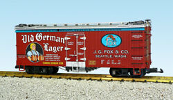 Usa Trains G Scale Us Reefer Car R16430 Old German Beer – Oxide/silver