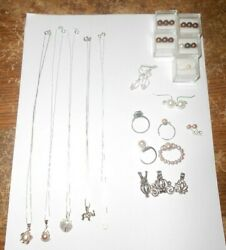 31-lot Akoya Pearls With 925 Silver Chains,rings,earrings New