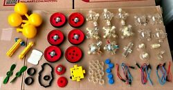Lot Assorted Capsela Parts And Pieces - Motors Switch Wheels Capsules Etc.