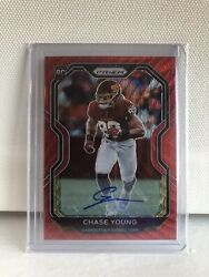 2020 Panini Red Wave Prizm Chase Young Rc Rookie Auto 108/149 Washington Read