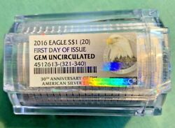 2016 Silver S1 Eagle Roll Ngc First Day Of Issue Gem Uncirculated