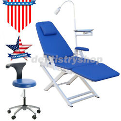 Portable Dental Folding Chair With Rechargeable Led Light / Medical Mobile Chair