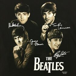 Beatles T-shirt With Replica Autographs - Retired Style - 2xl