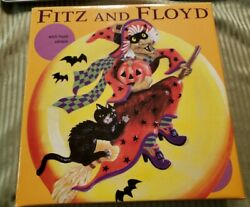 Fitz And Floyd 9 Witch Hazel Canape Plate With Orginal Box And Wrapings