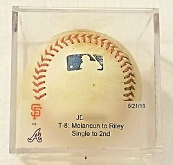 Austin Riley 10th Career Hit Single Game Used Baseball 5/21/19 Mlb Authenticated