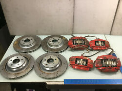08-18 Dodge Challenger Srt8 Front And Rear Wheel Brake Red Calipers W/disk Rotors