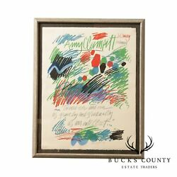 Sam Maitin Pencil Signed And Numbered Limited Edition Framed Abstract Lithograph