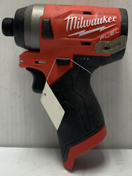 Pre Owned- Milwaukee 2553-20 1/4-inch M12 Fuel Hex Impact Driver Tool Only
