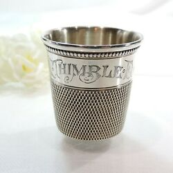 Antique C1900 Simons Bros And Co Sterling Silver Thimble Shot Glass/jigger/cup