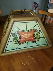 Vintage Miller High Life Beer Lady Moon Hanging Chain Light