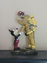 Rare Charles Boyer A Disney Tribute To Fire Fighters Figure Mickey Mouse