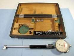 .7 - 1.5 Inch Bore Gauge Set With Peacock Indicator Used