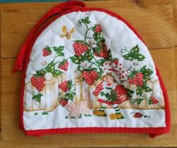 Vintage Strawberry Shortcake Toaster Cover With Tag 1980 Quilted