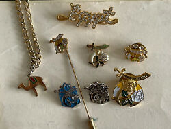 Vintage Masonic Shriners Eastern Star Daughters Of The Nileset Of 8 Items