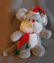 House Of Lloyd Christmas Melody Mouse Plush Musical Stuffed Animal As-is Broken