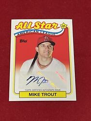 2013 Topps Archives Retail Chase Cmike Trout 1993 All Star Auto 4/10 Ssp Rca-mt