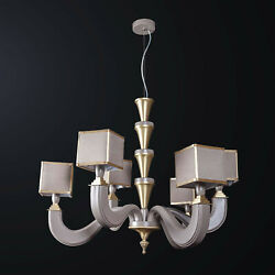 Chandelier Classic Wooden Turtle Dove And Brass To 6 Lights Bga 3171-3-3