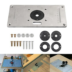 Aluminum Router Table Insert Plate With 4 Rings And Screws For Woodworking Benches