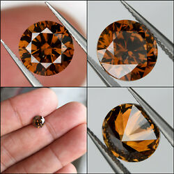 Gia Certified Fancy Orange Brown Loose Natural Diamond Round 1.16ct 6.5mm Color