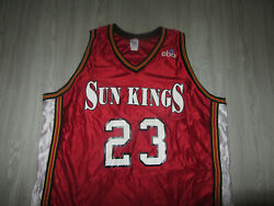 Authentic Yakima Sun Kings Dell Demps Cliff Keen Game Used Cba Jersey Xl 1994-95