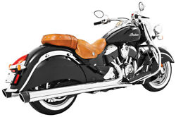 Freedom Performance In00029 4in. Liberty Slip-on Chrome/black End Caps